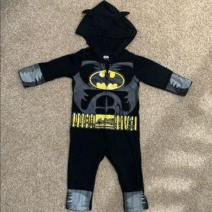 Batman Long Sleeve Hooded Zip Up Onesie Jumpsuit